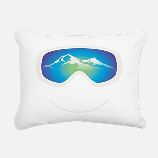 goggle white Rectangular Canvas Pillow