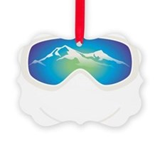 goggle white Ornament