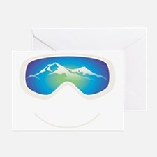 goggle white Greeting Card