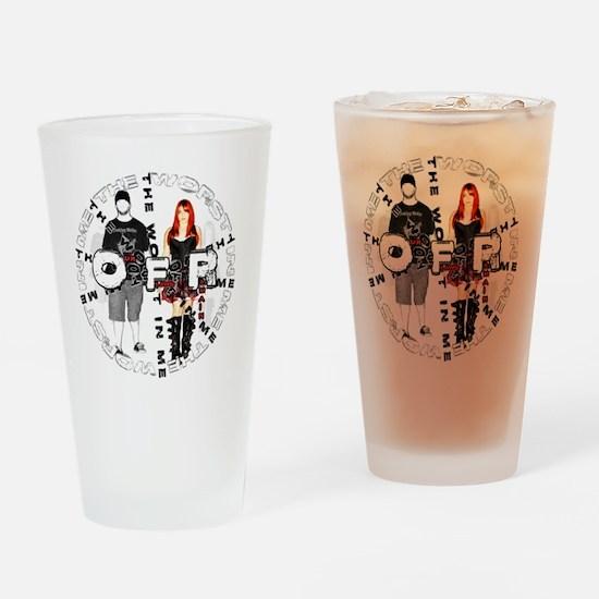 OFR - Circle Jerk Logo Drinking Glass