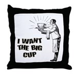Big Coffee Cup Throw Pillow