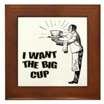 Big Coffee Cup Framed Tile