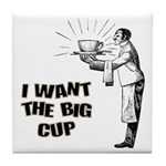 Big Coffee Cup Tile Coaster