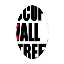 all streets black Oval Car Magnet