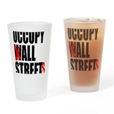 all streets black Drinking Glass