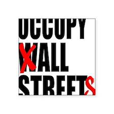 "all streets black Square Sticker 3"" x 3"""