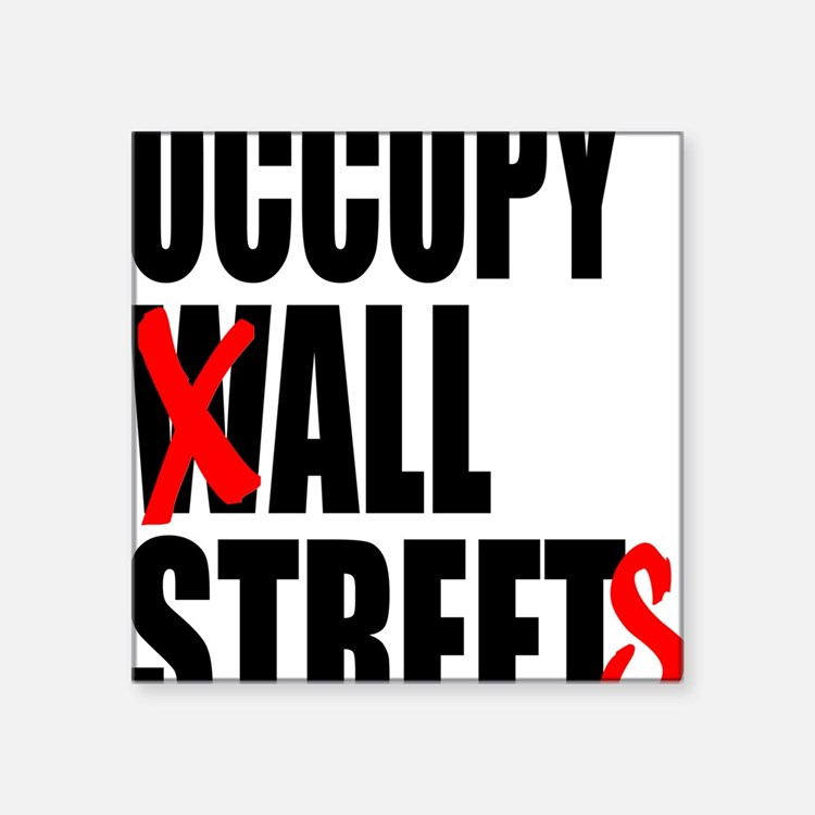 "all streets black Square Sticker 3"" x 3"""