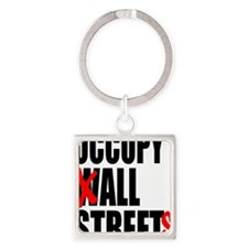 all streets black Square Keychain