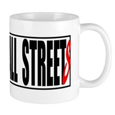 all streets white bumper Small Mug
