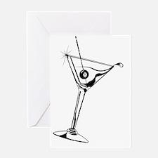 Martini_8Ball_9x12_framed_panel_prin Greeting Card