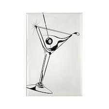 Martini_8Ball_9x12_framed_panel_p Rectangle Magnet
