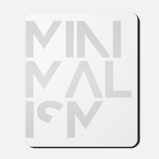 minimalism stacked HR Mousepad
