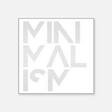 "minimalism stacked HR Square Sticker 3"" x 3"""
