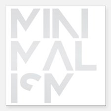 """minimalism stacked HR Square Car Magnet 3"""" x 3"""""""
