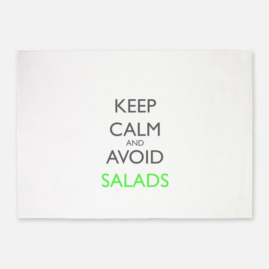 Keep Calm And Avoid Salads Gastropa 5'x7'Area Rug