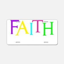 neon multi, Hebrew 11_1 Aluminum License Plate
