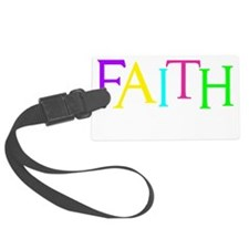 neon multi, Hebrew 11_1 Luggage Tag