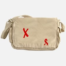 all streets white Messenger Bag