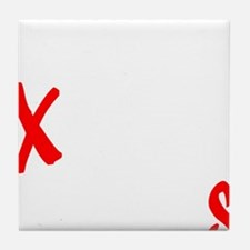 all streets white Tile Coaster