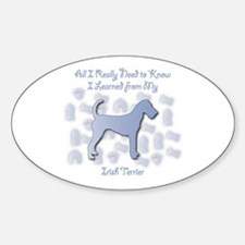 Learned Terrier Oval Decal