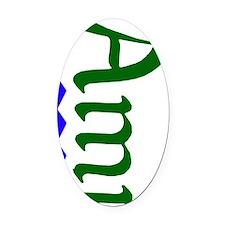 Ami Oval Car Magnet