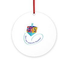 Hanukkah Dreidel Round Ornament