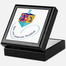 Hanukkah Dreidel Keepsake Box