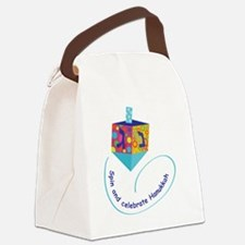 Hanukkah Dreidel Canvas Lunch Bag