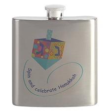 Hanukkah Dreidel Flask