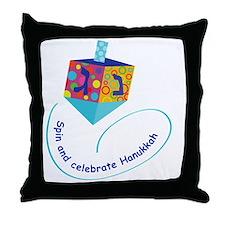 Hanukkah Dreidel Throw Pillow