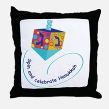 Hanukkah Dreidel Throw Pillow