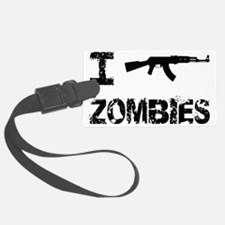 I Shoot Zombies Luggage Tag