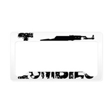I Shoot Zombies License Plate Holder