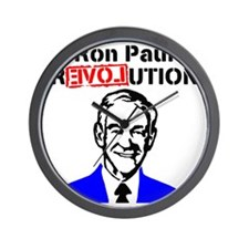 Ron Paul Revolution Blue n Red Wall Clock