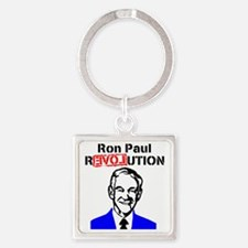 Ron Paul Revolution Blue n Red Square Keychain