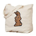 Cute Brown Bunny Cartoon Tote Bag