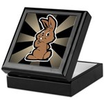 Cute Brown Bunny Cartoon Keepsake Box