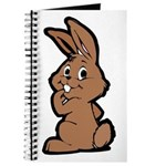 Cute Brown Bunny Cartoon Journal