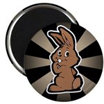 "Cute Brown Bunny Cartoon 2.25"" Magnet (10 pack)"