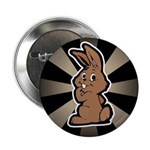 "Cute Brown Bunny Cartoon 2.25"" Button (100 pack)"