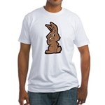 Cute Brown Bunny Cartoon Fitted T-Shirt