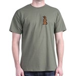 Cute Brown Bunny Cartoon Dark T-Shirt