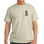 Cute Brown Bunny Cartoon Light T-Shirt