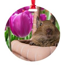 DEGU in TULIP BASKET Ornament