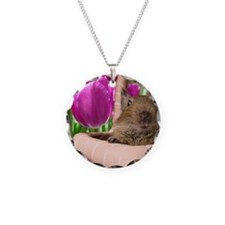 DEGU in TULIP BASKET Necklace