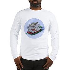 eleph rhino hippo sled circle Long Sleeve T-Shirt