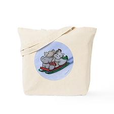 eleph rhino hippo sled circle Tote Bag