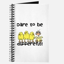 Funny Dare to be Different Chicks Journal
