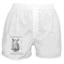 RHINO 5-14--we are vanishing Boxer Shorts