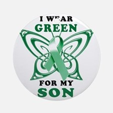 I Wear Green for my Son Round Ornament
